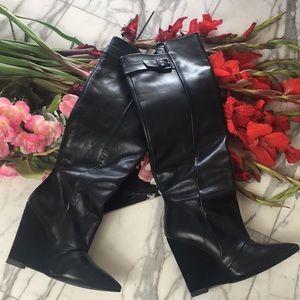 Zara Leather Riding Boots EUC Size 7.5